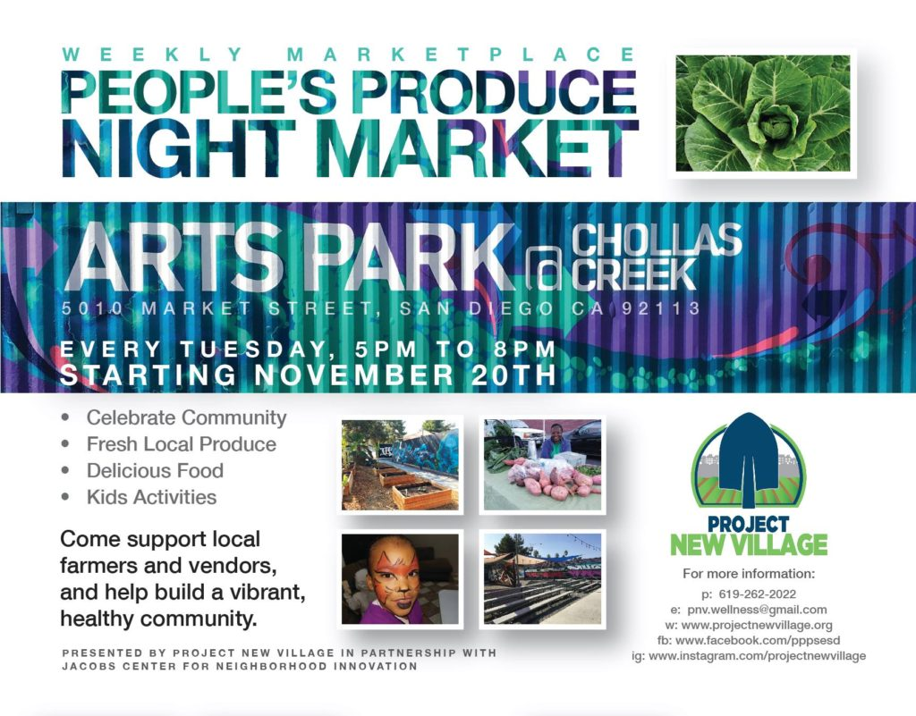 People's Produce Night Market @ Arts Park @ Chollas Creek | San Diego | California | United States