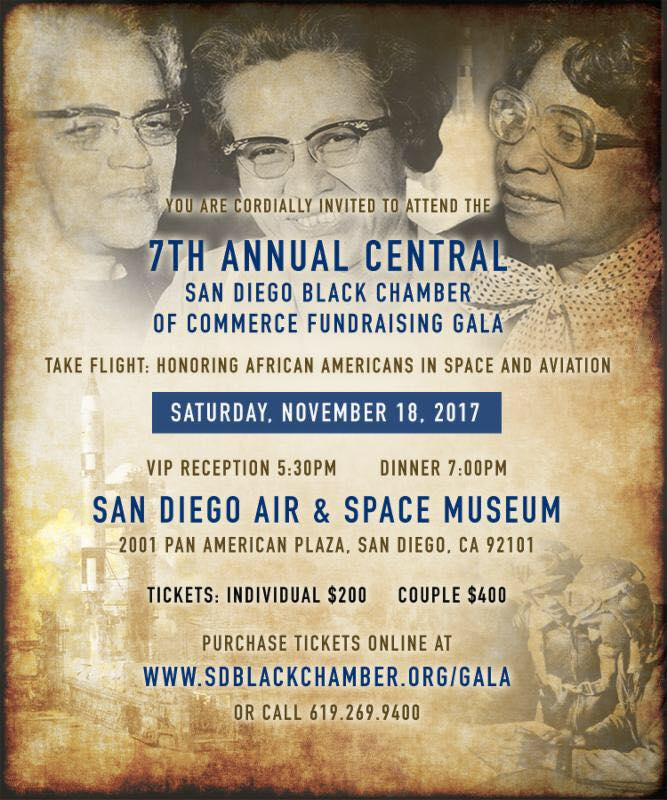 7th Annual Gala & Fundraiser Central San Diego Black Chamber of Commerce @ San Diego Air & Space Museum | San Diego | California | United States