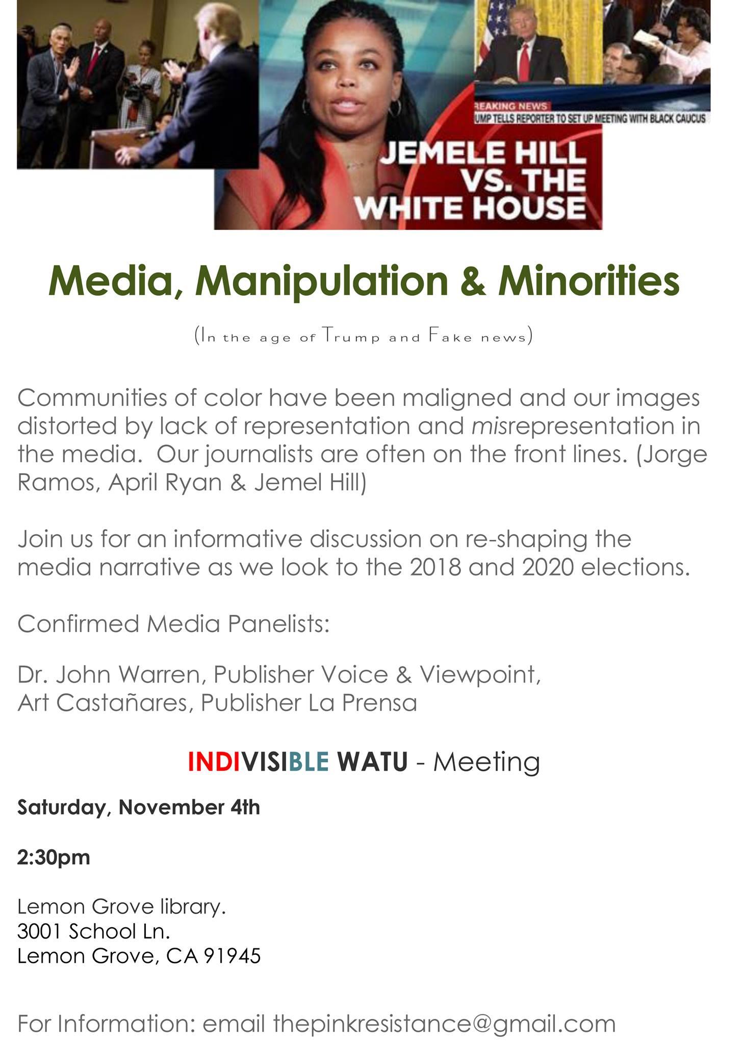 Media, Manipulation and Minorities: in the era of trump and fake news @ Lemon Grove Branch Library  | Lemon Grove | California | United States