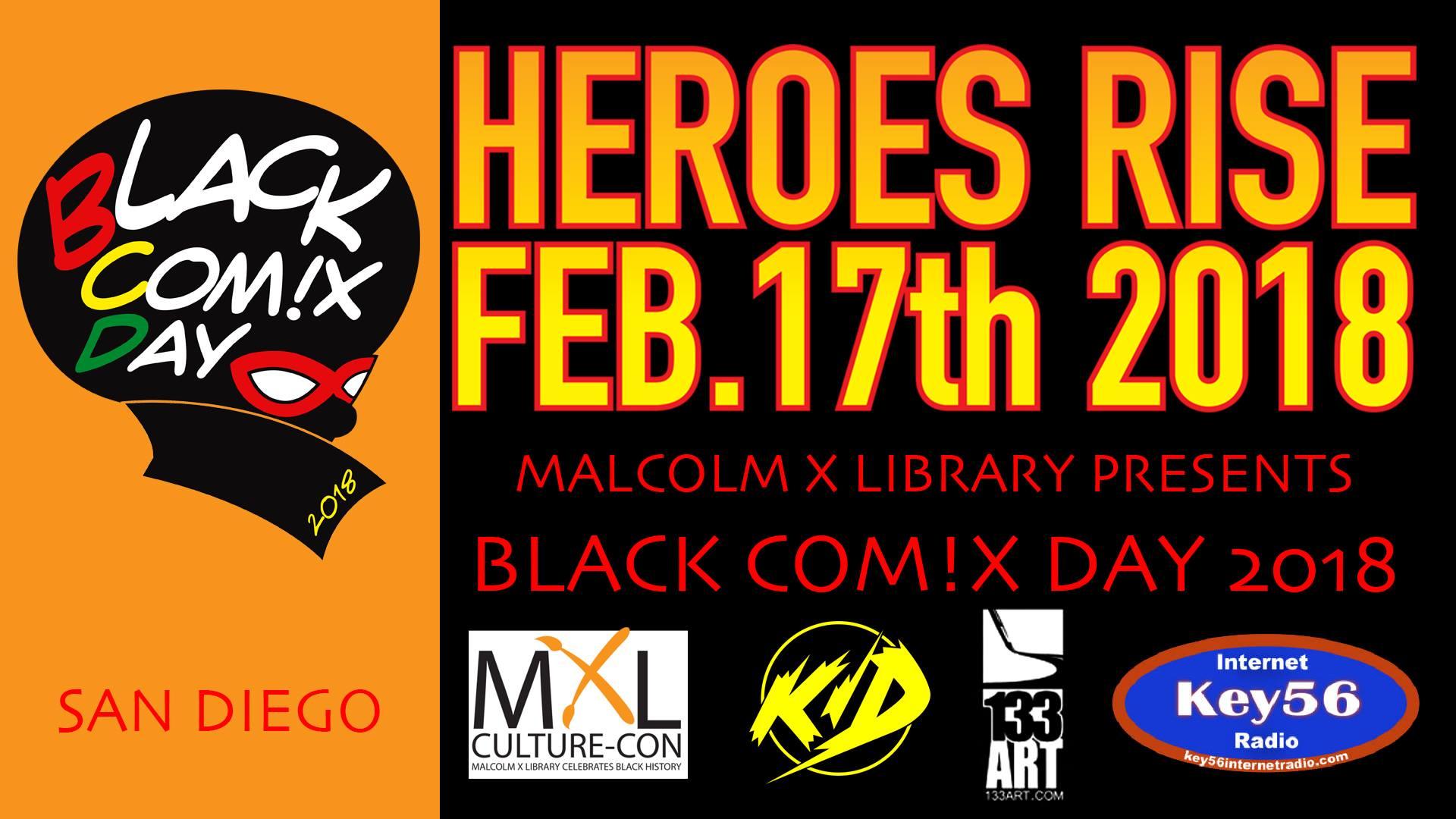 BLACK COM!X DAY 2018 @ Valencia Park/Malcolm X Library  | San Diego | California | United States