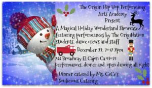 Magical Holiday Wonderland Showcase @ The Origin Hip Hop Performing Arts Academy  | El Cajon | California | United States