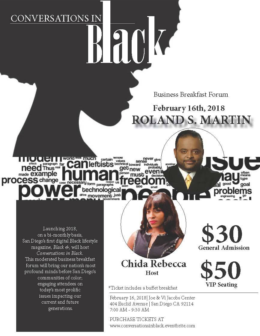 Conversations in Black: featuring Roland Martin @ Jacobs Center | San Diego | California | United States
