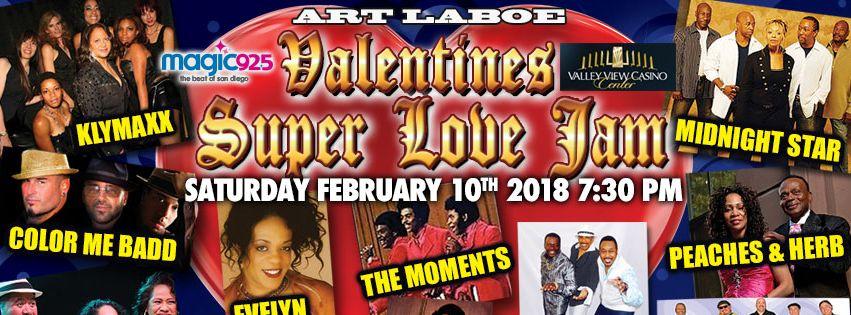 Art Laboe Valentines Super Love Jam : Evelyn Champagne King, Klymaxx, Peaches & Herb @ Valley View Casino Center  | San Diego | California | United States