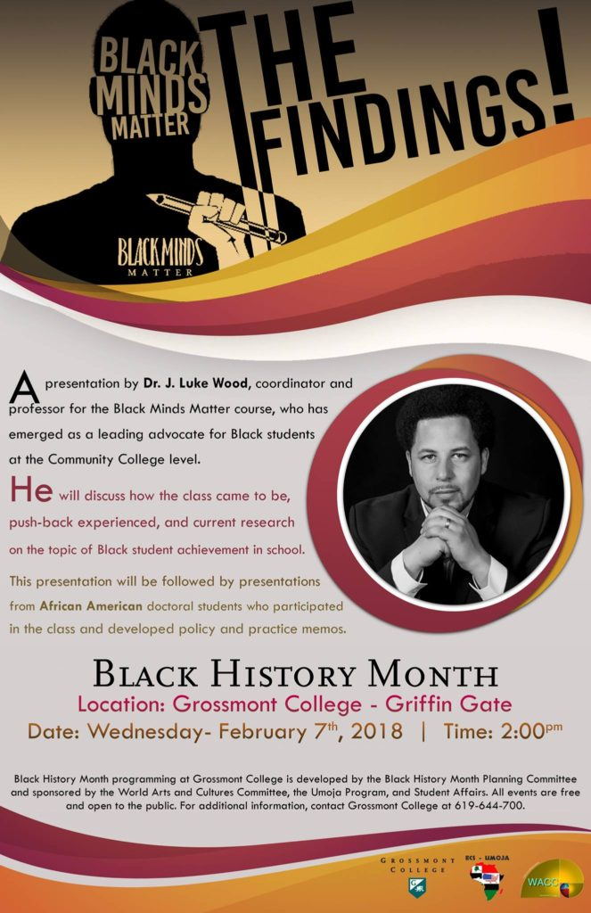 Black Minds Matter | The Findings! @ Grossmont College Griffin Gate