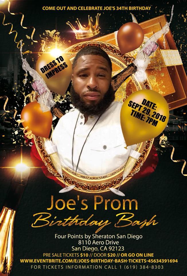 Joe's Prom Birthday Bash @ Four Points by Sheraton San Diego