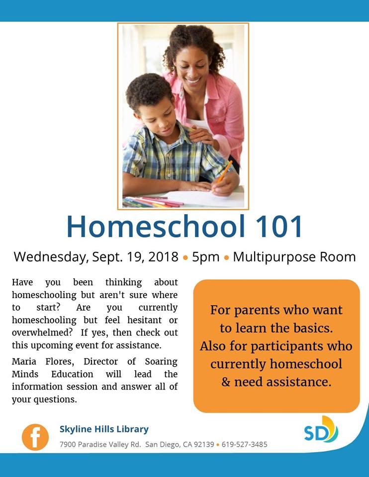 Homeschool 101: Info Session @ Skyline Hills Library