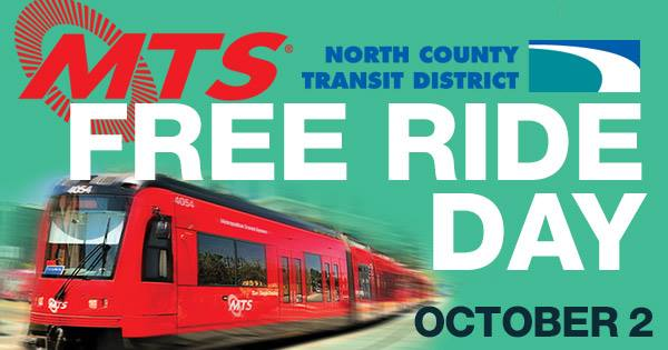MTS and NCTD Free Ride Day @ Metropolitan Transit System