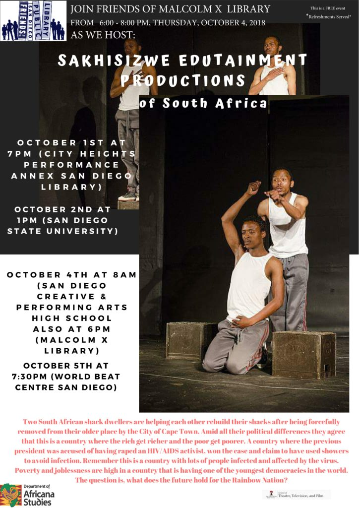Sakhisizwe Edutainment Productions of South African    *FREE EVENT* @ City Heights Performance Annex