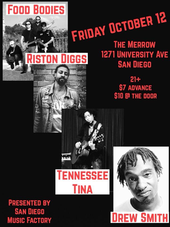 Riston Diggs, TN Tina and Drew Smith at The Merrow @ The Merrow