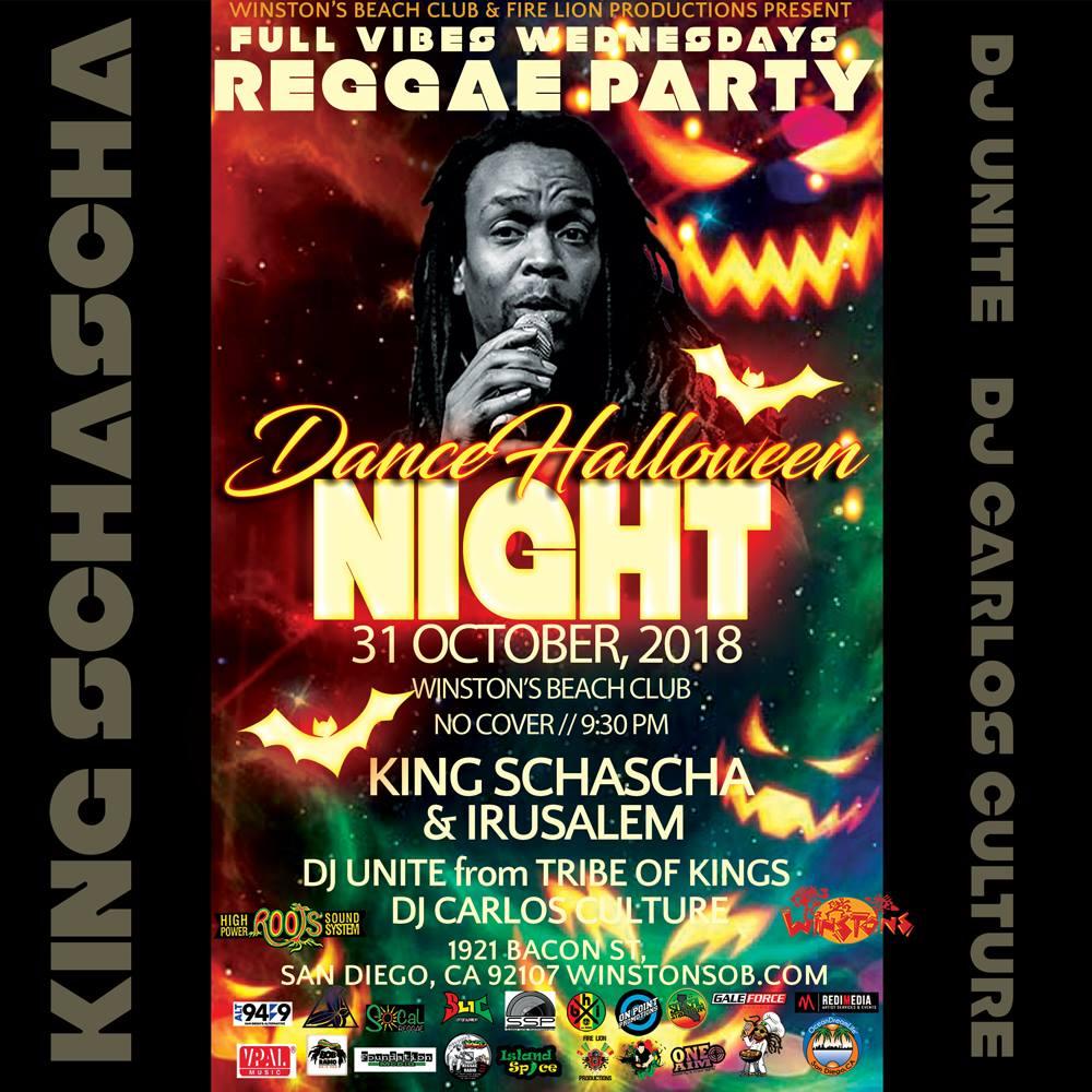Club Kingston - Dancehalloween Night w/ KIng Schascha & Irusalem @ WinstonsOB