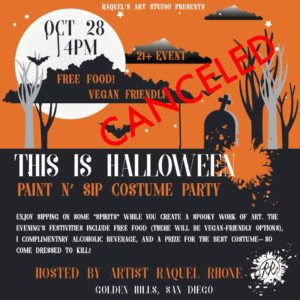 Halloween Paint/Costume Party ***CANCELLED**