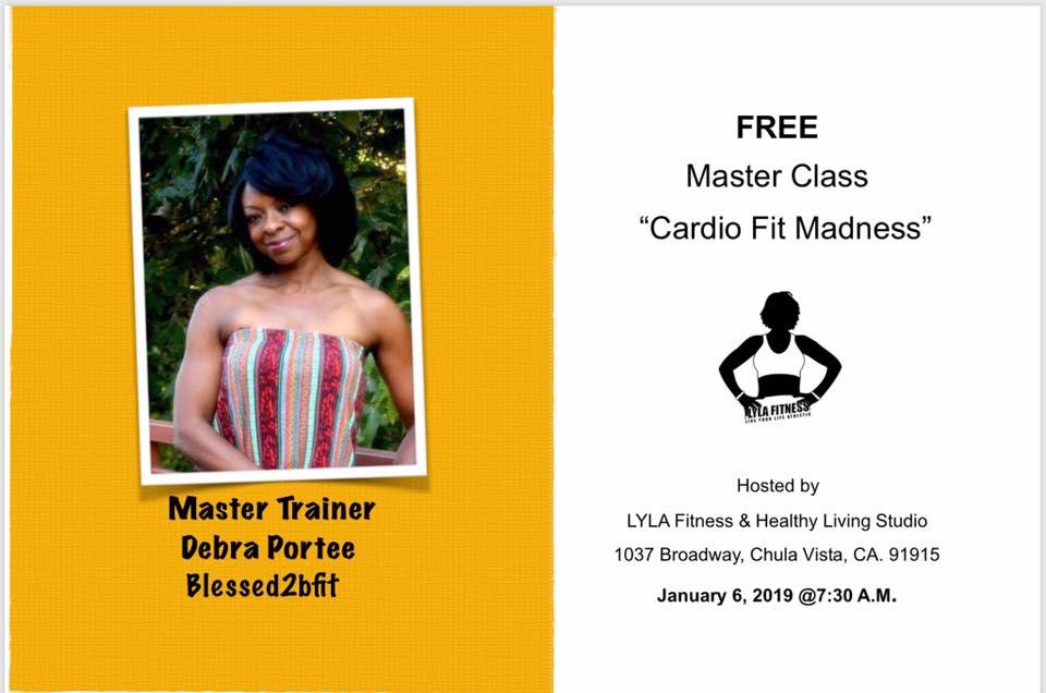 Cardio Fit Madness w/ Debra-Portee @ LYLA Fitness & Healthy Living Studio