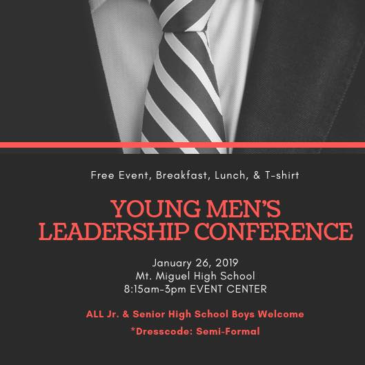14th Annual Young Men's Leadership Conference @ Mount Miguel High School