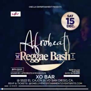 AFROBEAT N REGGAE @  Xo Bar & Restaurant