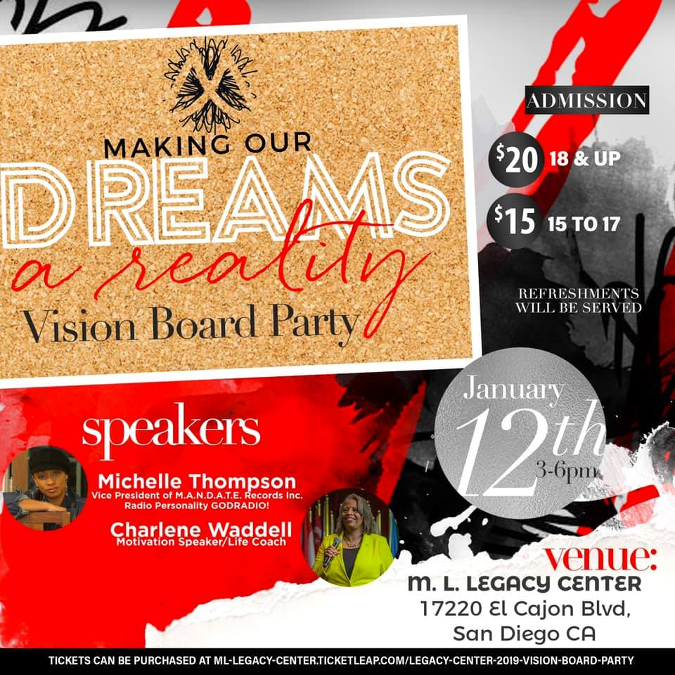 Vision Board Party @ M.L. Legacy Center