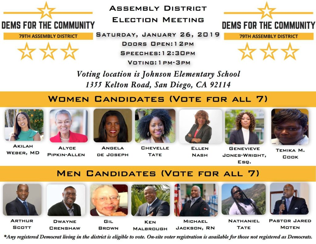 AD79: Assembly District Delegate Election Day @ Johnson Elementary