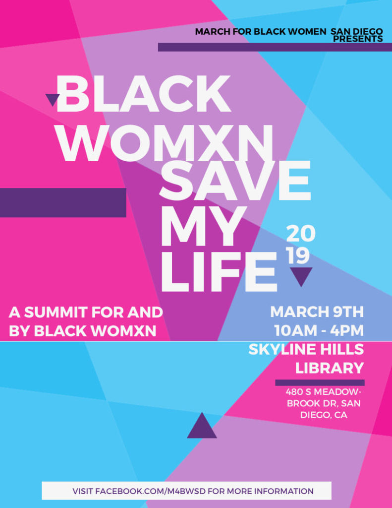 Black Womxn Save My Life: A Summit @ Skyline Hills Library