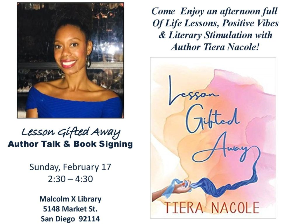 Author Talk & Book Signing with Tiera Nacole @ Malcolm X Library