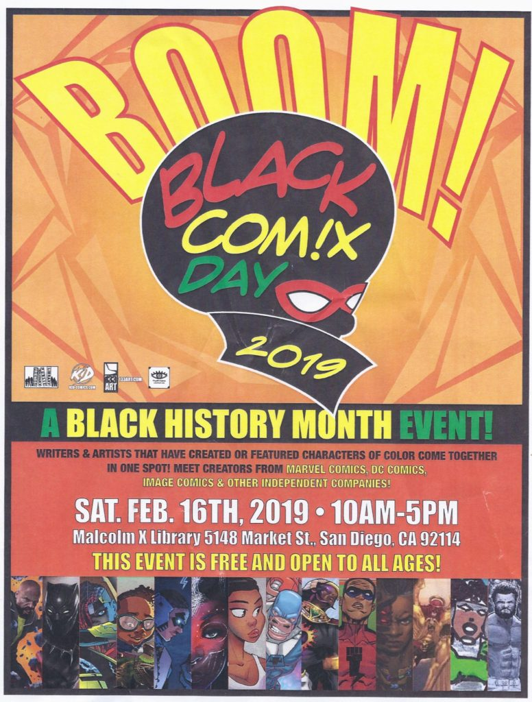 2nd Annual Black Comic Day @  Malcolm X Library
