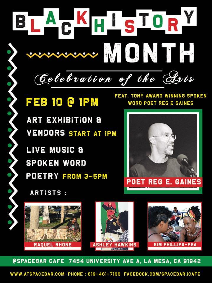 Spacebar Cafe Black History Month Art Celebration @ Spacebar Cafe