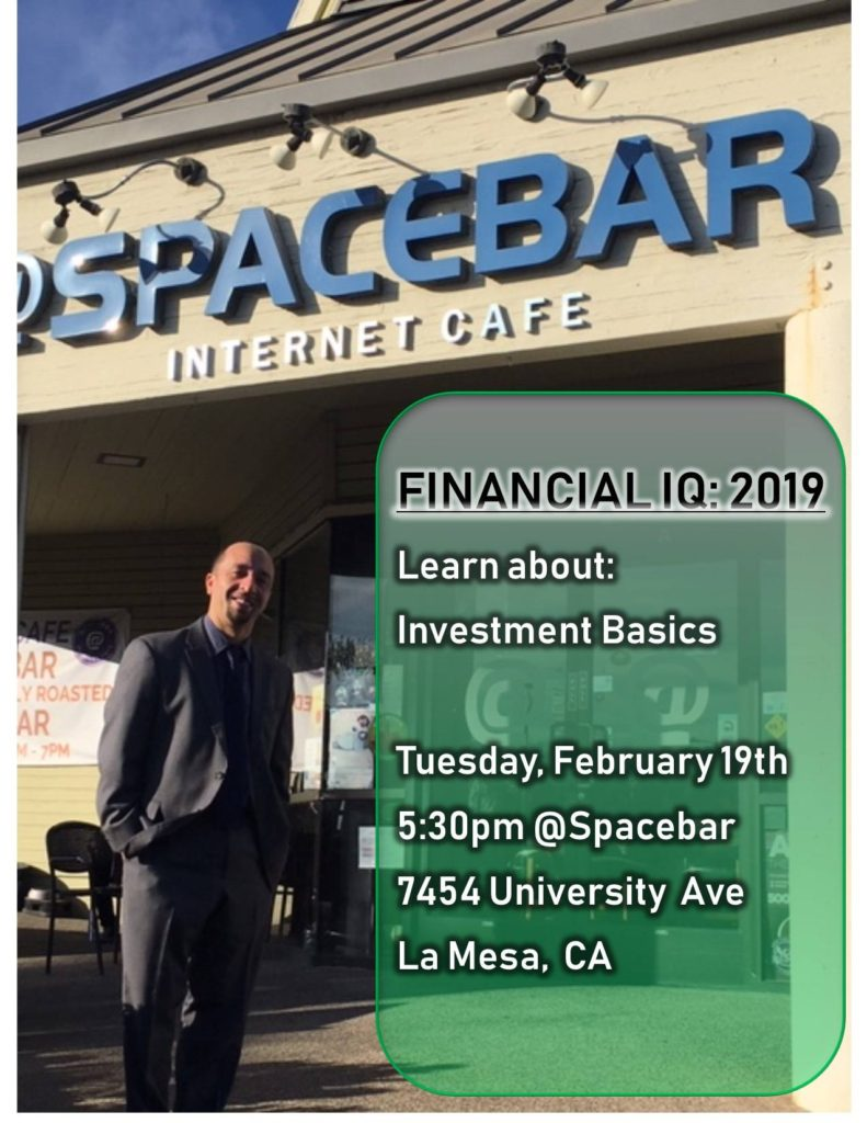 Financial IQ: Investment Basics @ Spacebar Cafe