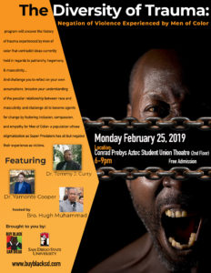 Black {Men}tal Health Series Part 2: The Diversity of Trauma @ San Diego State University (Student Union Theatre)