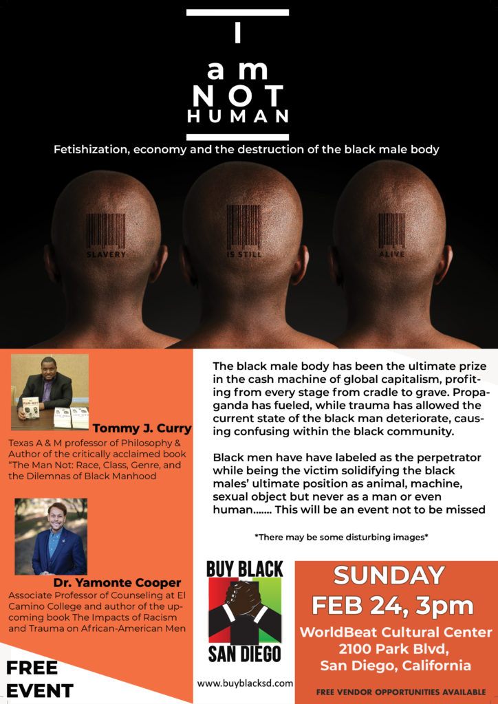 Buy Black San Diego Presents Black {Men}tal Health Series: i am not human @ World Beat Cultural Center