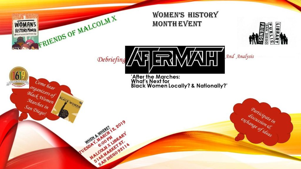 Women's History Month 2019- Friends of the Malcolm X Library @ Malcolm X Library
