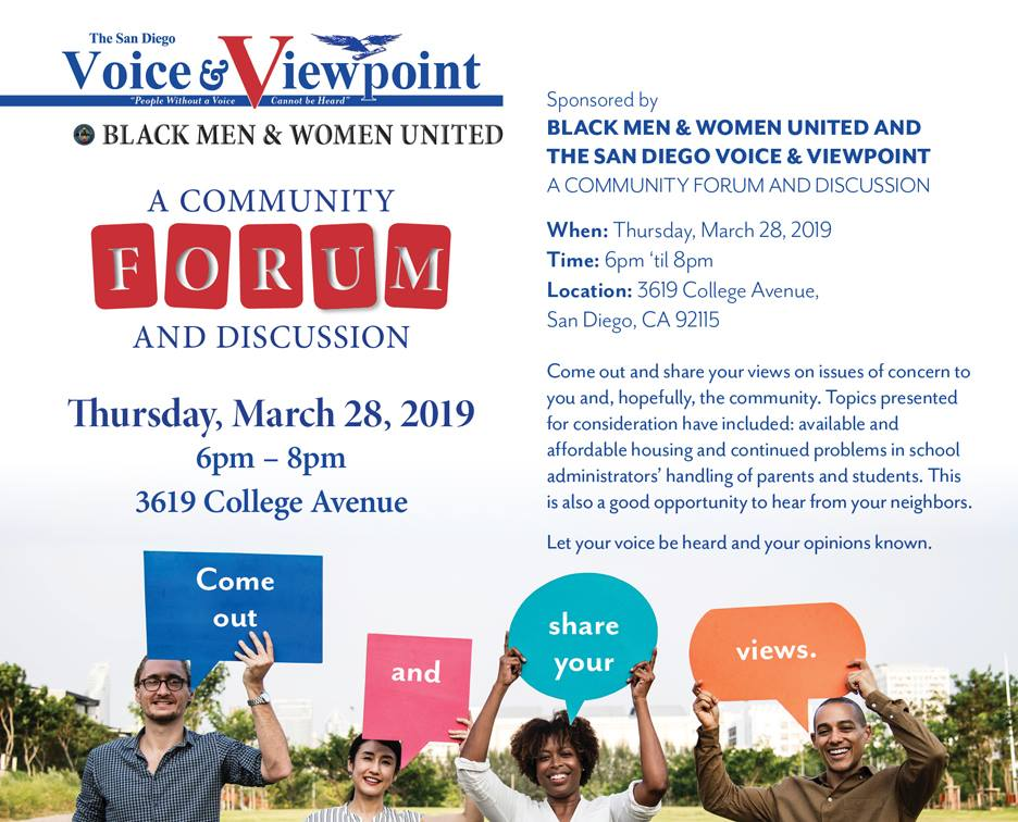 BMW&U Community Forum @ The San Diego Voice & Viewpoint Newspaper