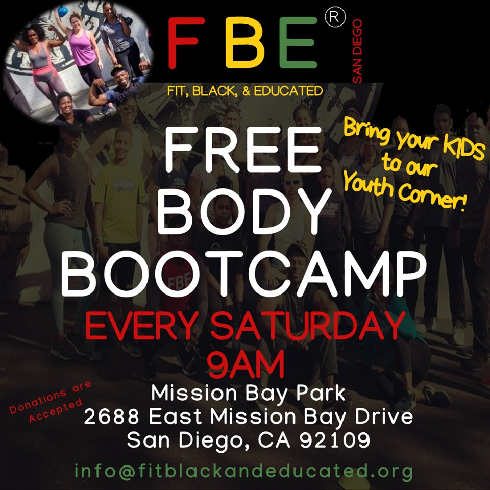 Fit, Black, and Educated, Inc. (FBE) presents....Body Bootcamp @ Mission Bay Park