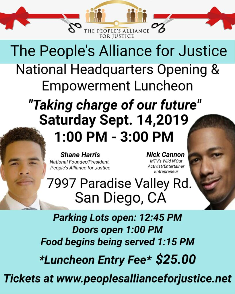 Nick Cannon speaks at the People's Alliance for Justice