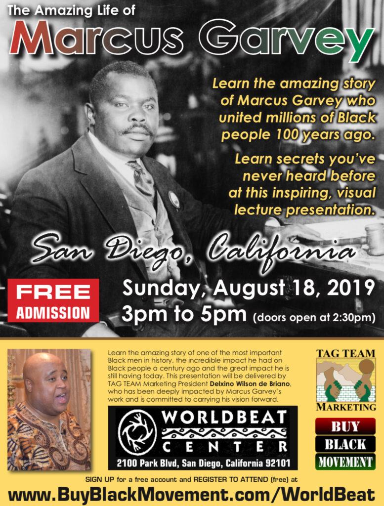Marcus Garvey Day feat Delxino Wilson de Briano @ World Beat Center