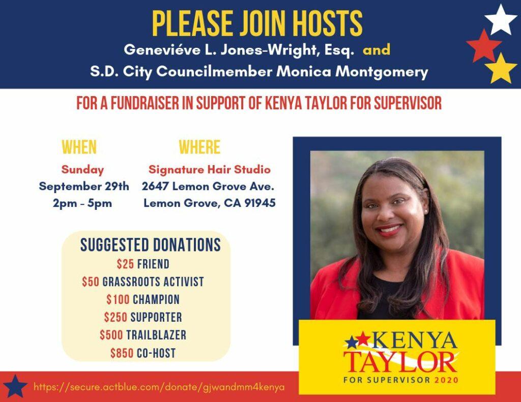 Fundraiser to elect Kenya Taylor for Supervisor @ Signature Hair Studio