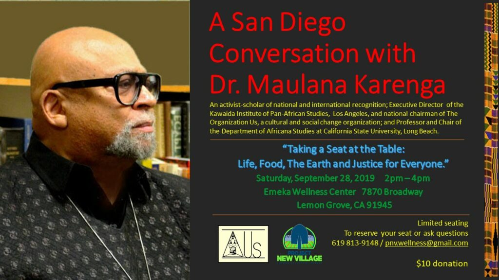 A Conversation with Dr. Maulana Karenga @ Emeka Wellness Center