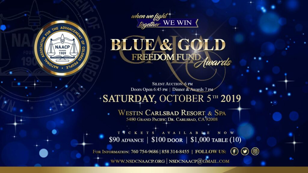 54th Annual Blue & Gold Freedom Fund Gala @ pin NSDC NAACP Branch #1086