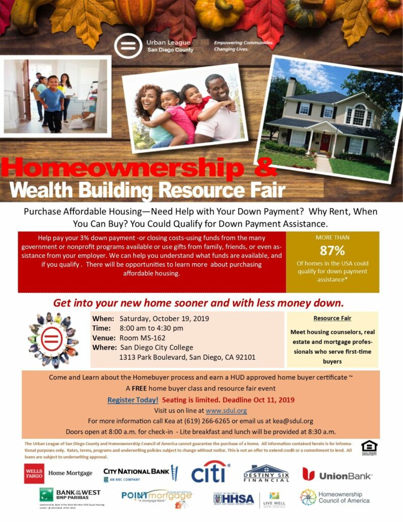 Homeownership & Wealth Building Resource Fair @ San Diego City College