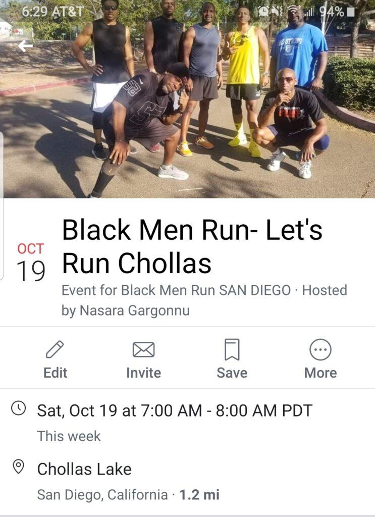 Black Men Run @ Chollas Lake